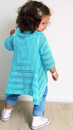 Blue Sky Cardi - ByKaterina Blue Sky Cardi Crochet patterns - sweater on hook . - Blue Sky Cardi – ByKaterina Blue Sky Cardi Crochet patterns – sweater on hook. Cardigan Bebe, Crochet Poncho Patterns, Crochet Cardigan Pattern, Crochet Jacket, Crochet Shawl, Cardigan Sweaters, Crochet Sweaters, Crochet Diagram, Knitting Patterns