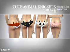 Callie V's Cute Animal Knickers