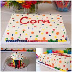 rainbow birthday cake & smash cake