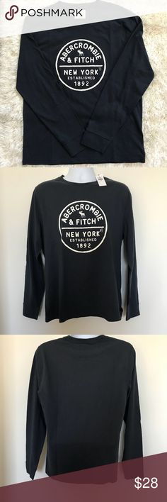 Nwt Abercrombie & Fitch Men's Long Sleeve Tee Nwt Large Men's Crew neck long Sleeve Tee-Blue Abercrombie & Fitch Shirts Tees - Long Sleeve