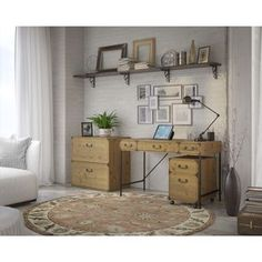Ironworks Lateral File Cabinet - 18529800 - Overstock.com Shopping - Great Deals on Kathy Ireland by Bush File Cabinets