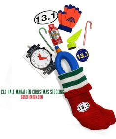 This 13.1 Half Marathon Stocking makes the perfect gift for any runner in your life who runs half marathons!