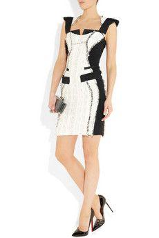Antonio Berardi- Boucle tweed and crepe dress 2,226$