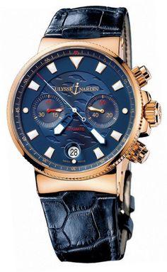 Ulysse Nardin 356-68LE Maxi Marine Chronograph Blue Seal Limited Edition 999