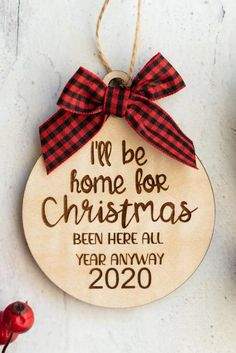Funny Christmas Ornaments, Christmas Quotes, Christmas Humor, Christmas Holidays, Xmas Theme, Xmas Decorations, Ornaments Ideas, Wood Ornaments, Christmas Wallpaper