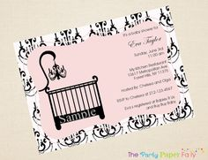 Elegant Crib Chic Damask Chandelier Baby by ThePartyPaperFairy, $21.00
