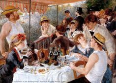 Luncheon-of-the-Boating-Party-1881-oil-painting-Pierre-Auguste-Renoir-French-impressionism-people-picnic-hats-wine-grapes.jpg (1024×740)  I have this on my living room wall!! love