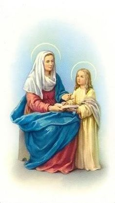 Saint Anne &daughter Mary to be mother of Jesus