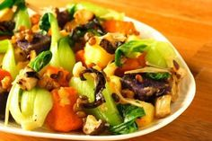 Asian Style Warm Potato Salad | www.jade88.com | A healthy dish great for picnics, or as a quick meal. #BokChoy #PotatoSalad #AsianGreens