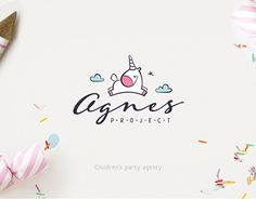 Agnes Project is a chidren's party agency. We've the logo some identity stuff. Do you like unicorns like we do? Graph Design, Web Design, Brand Identity Design, Branding Design, Logo Foto, Princess Logo, Kids Graphic Design, Unicorn Logo, Sweet Logo