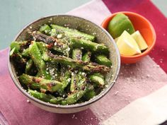 Broiled Asparagus With Cotija Cheese Recipe | Thought you didn't like asparagus? Think again.