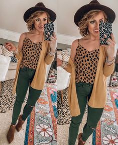 Target Fall Finds: Part Three Olive Green Pants Outfit, Leopard Cardigan Outfit, Jeggings Outfit, Cardigan Outfits, Winter Fashion Outfits, Casual Fall Outfits, Look Fashion, Autumn Fashion, Cute Outfits
