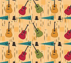 """Fabric+""""Guitar""""+by+Carswell+King"""