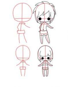 how to draw chibi bodies step 2