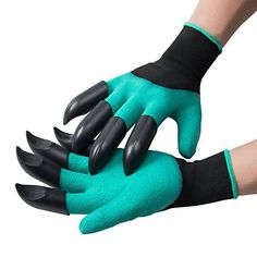 $6.99 (50% Off) on LootHoot.com - SigmaGo Garden Genie Gloves with Fingertips - Gardening Gloves Easy to Dig and Plant - Protective Digging Gloves with Left and Right Hand Claws Safe for Rose Pruning - As Seen On TV (2 Claws)