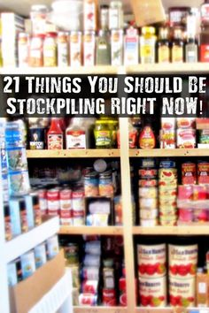 21 Things You Should Be Stockpiling RIGHT NOW - When the SHTF there will be a period of panic and turmoil the streets may be dangerous and the stores will be chaos. Do you really want to stake your safety trying to obtain items you think you'll need to sustain your family? Are you prepared to lose your life trying to get these things in a disastrous situation?