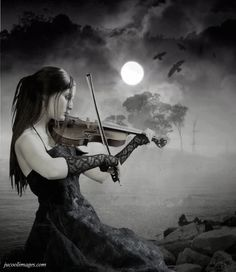 Photo of violin for fans of Gothic 31080940 Girl Playing Violin, Gothic Fantasy Art, Beautiful Dark Art, Sad Pictures, Goth Art, Dark Gothic, Relaxing Music, Sasuke Uchiha, Classical Music