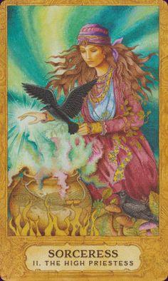 Sorceress (The High Priestess) - Chrysalis Tarot