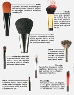 Pinceis de maquiagem e suas funções!