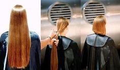 Long To Short Hair, Long Brown Hair, Long Hair Cuts, Short Hair Styles, Shaved Hair Women, Blond, Hair Falling Out, Hair Transformation, Layered Hair