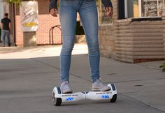 """The future of personal transportation has arrived at Sharper Image!  """"Fly"""" around town on the amazing Hover Board - it's the eco-friendly electric vehicle that gives you a smooth, comfortable ride!"""