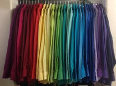 My photo is a little washed out. These shirts are even brighter in real life. Clear Winter, Seasonal Color Analysis, Winter Colors, Saturated Color, Season Colors, Winter Wardrobe, Dress Shirts, Capsule Wardrobe, Men Dress