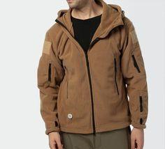 $40.98  Men Tactical Military Fleece Hooded Outdoor Jacket for Winter - NewChic