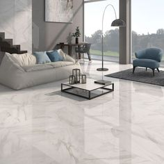 White gloss floor tiles at trade prices from Direct Tile Warehouse. See quality large floor tiles including stylish large white tiles Large White Tiles, Large Floor Tiles, Tile Floor, Modern Floor Tiles, Living Room Flooring, Kitchen Flooring, Tiles For Living Room, Kitchen Colors, Floor Tiles For Kitchen