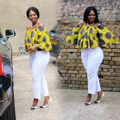 The versatility of the Ankara fabric cannot be overemphasized; one of the many things you can achieve with this beautiful fabric is the Ankara tops. Today, we bring you variety… African Maxi Dresses, African Fashion Ankara, Latest African Fashion Dresses, African Print Fashion, African Attire, African Wear, African Blouses, African Tops, African Women