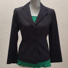 Ann Taylor Navy Blazer Immaculate navy pique blazer with waist detail Ann Taylor Jackets & Coats Blazers
