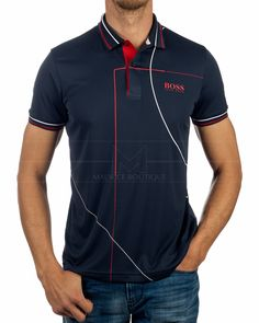 Polo HUGO BOSS ® Paddy MK Azul Marino| ENVIO GRATIS Camisa Polo, Hugo Boss Clothing, Types Of Trousers, Polo Shirt Design, Hugo Boss Man, Dress With Boots, Mens Fashion, Steampunk Fashion, Gothic Fashion