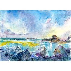 Tide Turning, Trevone Print By Sheila Gill. | Greetings Cards | Prints | Gift Wrap