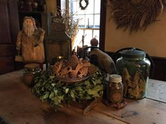 American Country, Primitive Christmas, Xmas, Photo And Video, Primitives, Connecticut, Painting, Decor Ideas, Videos