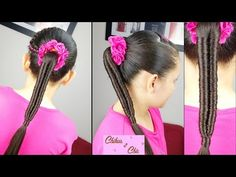 New braids ponytail sports easy hairstyles Ideas Girly Hairstyles, Braided Hairstyles Updo, Braided Ponytail, Fishtail Braids, Braids For Kids, Girls Braids, Natural Hair Styles, Short Hair Styles, Braids With Weave