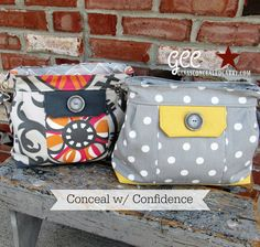 Concealed Carry Purses Choose Your Fabric by GCCginascraftcorner