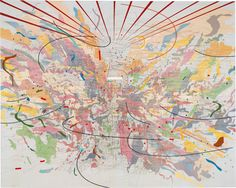 """fart21: """" Julie Mehretu, Looking Back to a Bright New Future, 2003 """""""