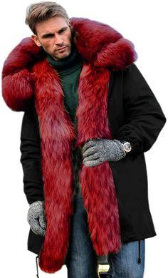 Mens Leather Coats, Mens Fur, Big Men Fashion, Men's Fashion, Mens Winter Coat, Winter Coats, Sheepskin Jacket, Fur Clothing, Long Jackets