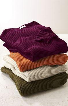 Shaker-stitch pullovers