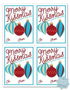 """Merry Kissmas"" Lip Balm Gift - Tried & True Creative Lip Gloss Quotes, Holiday Fun, Holiday Gifts, Holiday Ideas, Christmas Gift Tags, Christmas Ideas, Merry Christmas, Christmas Messages, Christmas 2016"