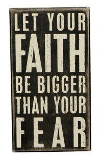 Box Sign - Faith Be Bigger
