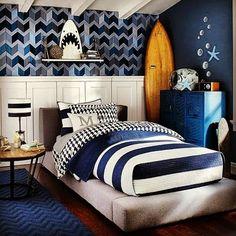 Result for images for boys surf room – Kinderzimmer - SURFING Shark Bedroom, Nautical Bedroom, Blue Bedroom, Kids Bedroom, Trendy Bedroom, Modern Bedroom, Boys Surf Room, Boy Room, Ocean Room