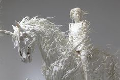 These hauntingly beautiful sculptures are created by Motohiko Odani', a Japan based Artisit. Right now, he has a strong Futurist interest in how to capture the concepts of movement and transformation, dynamism and speed in sculpture.