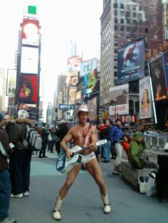 Naked Cowboy NYC New Year's Eve 2010