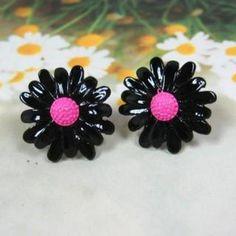Daisy Earrings Black - One Size  #100, #Accessories, #Angelove, #Earrings, #Fashion, #Httpwwwyesstylecomeninfohtmlpid1031457179, #YesStylecom