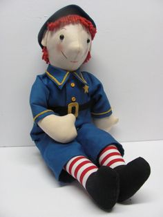 Percy Policeman, a Raggedy Ann Character, Handmade by Joan Oest, sold for $160 9/16
