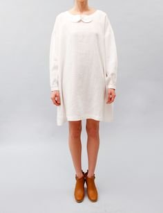 United Bamboo Bow Dress- White