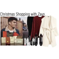 Christmas shopping with Zayn.  (Set made on Polyvore)