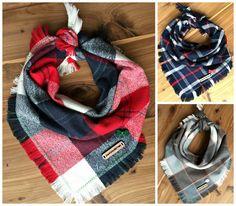 New series of plaid flannel dog bandanas