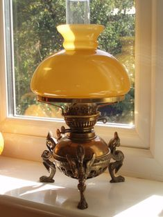 Griffin Brass Oil Lamp | Collectors Weekly