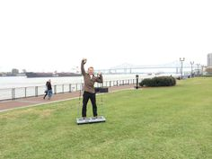 Who thought you could workout at the Mississippi River? Greg Hartle did!
